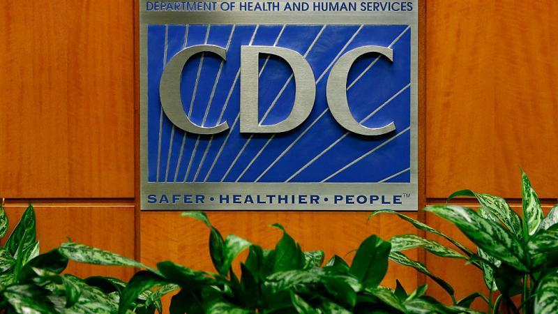 Podium with CDC logo in 2014