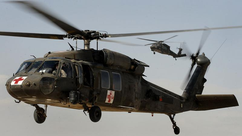 US Army Blackhawk helicopter in 2011