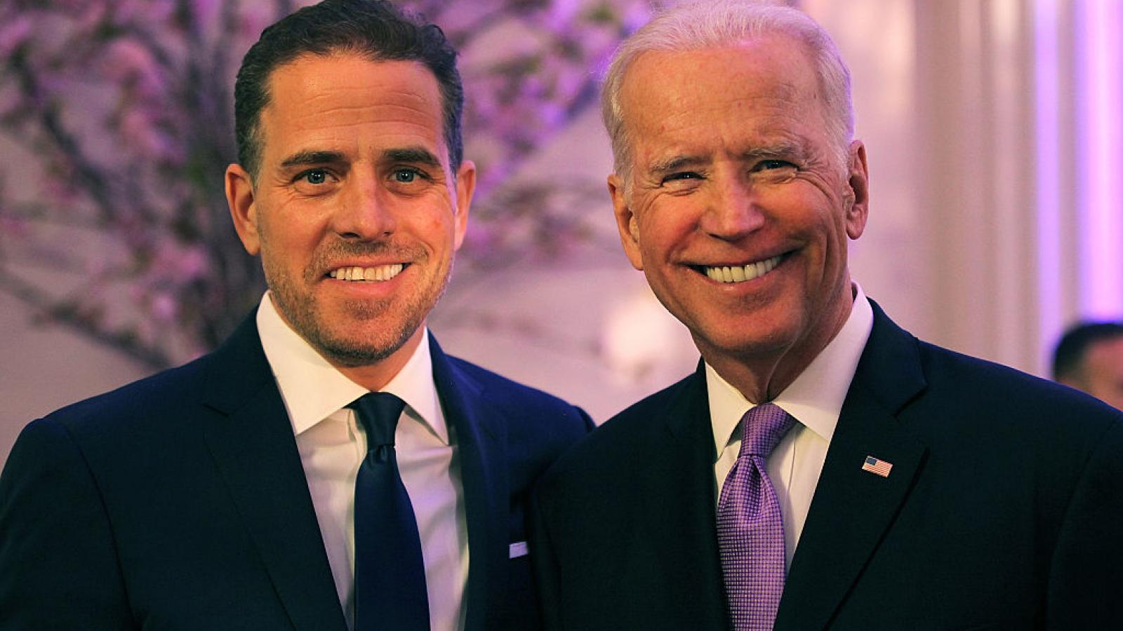 Hunter Biden with father Joe Biden