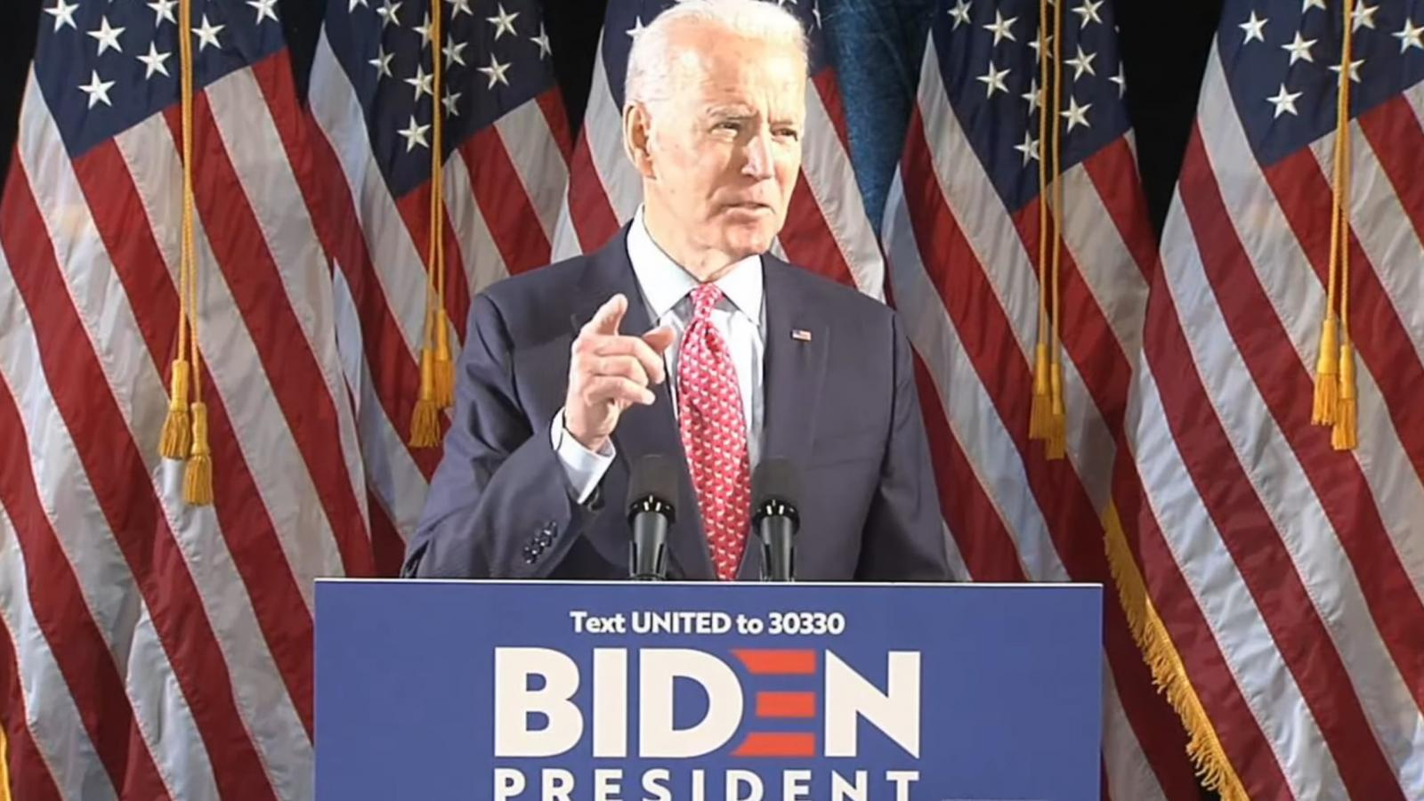 Joe Biden lays out coronavirus plan
