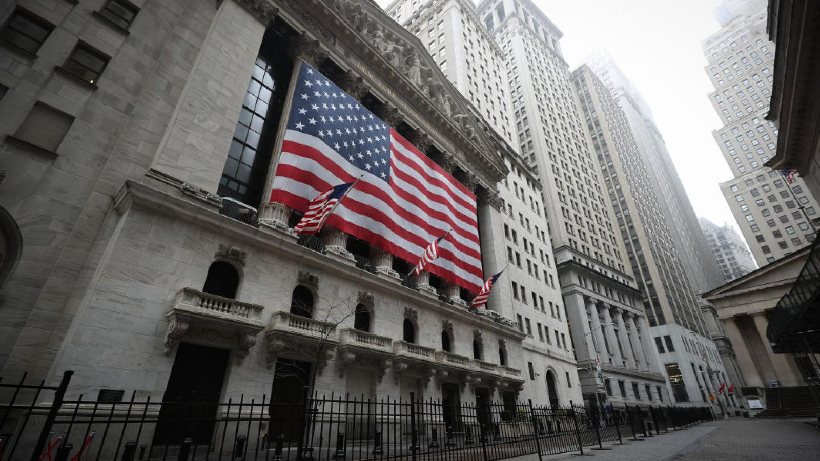 New York Stock Exchange building on March 29, 2020