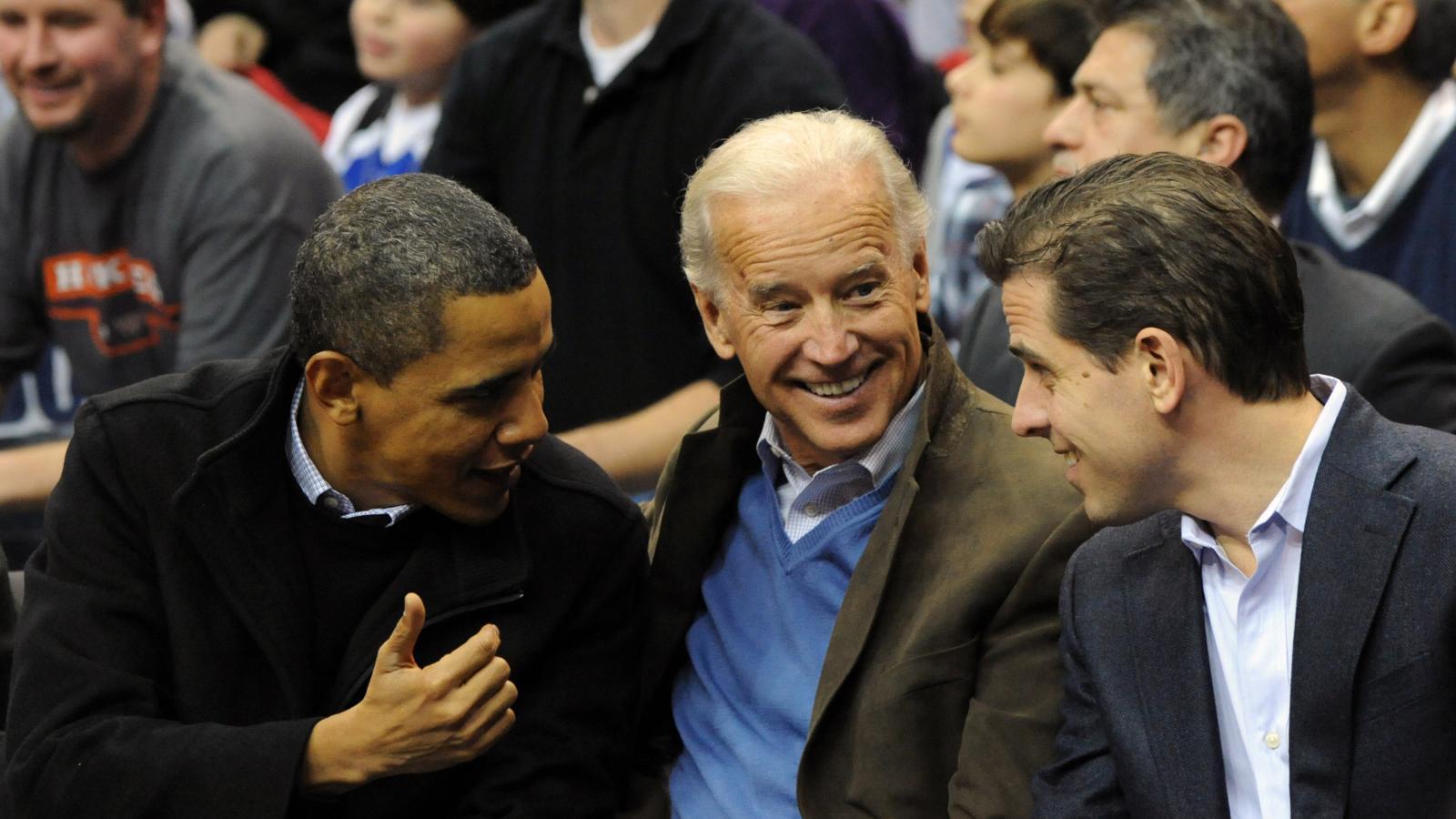 Hunter and Joe Biden with Obama