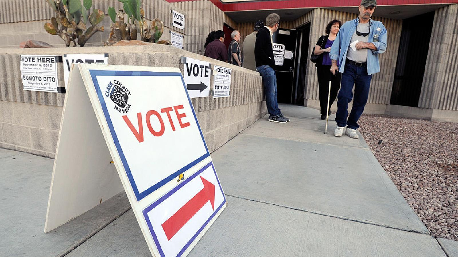 A polling station in Las Vegas, Nevada