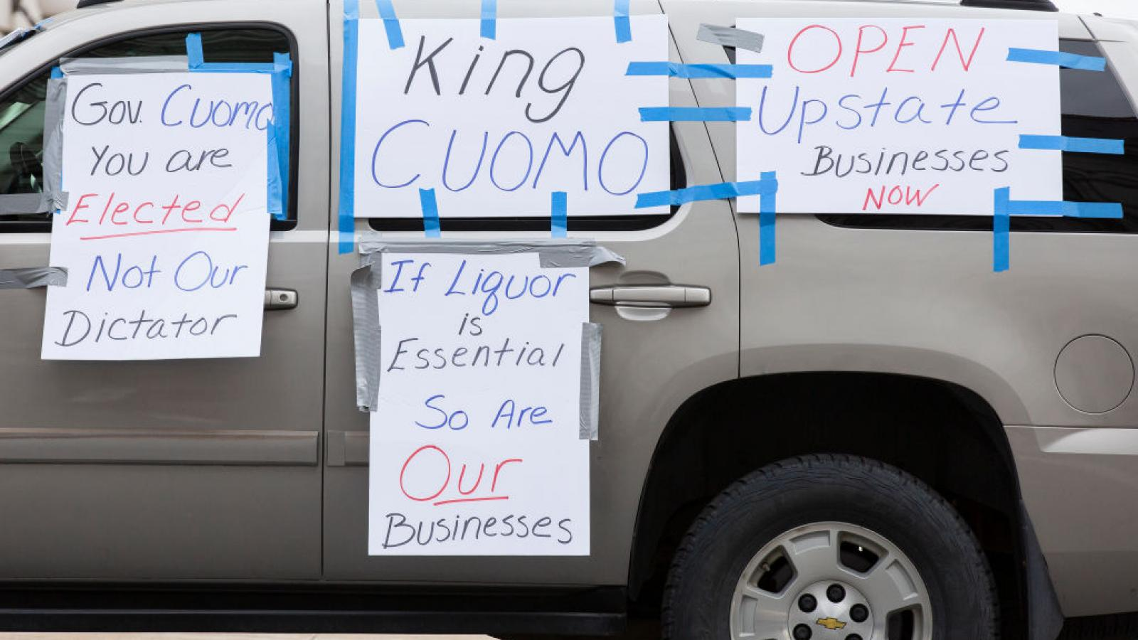 Protests against New York Gov. Andrew Cuomo, Apr. 2020
