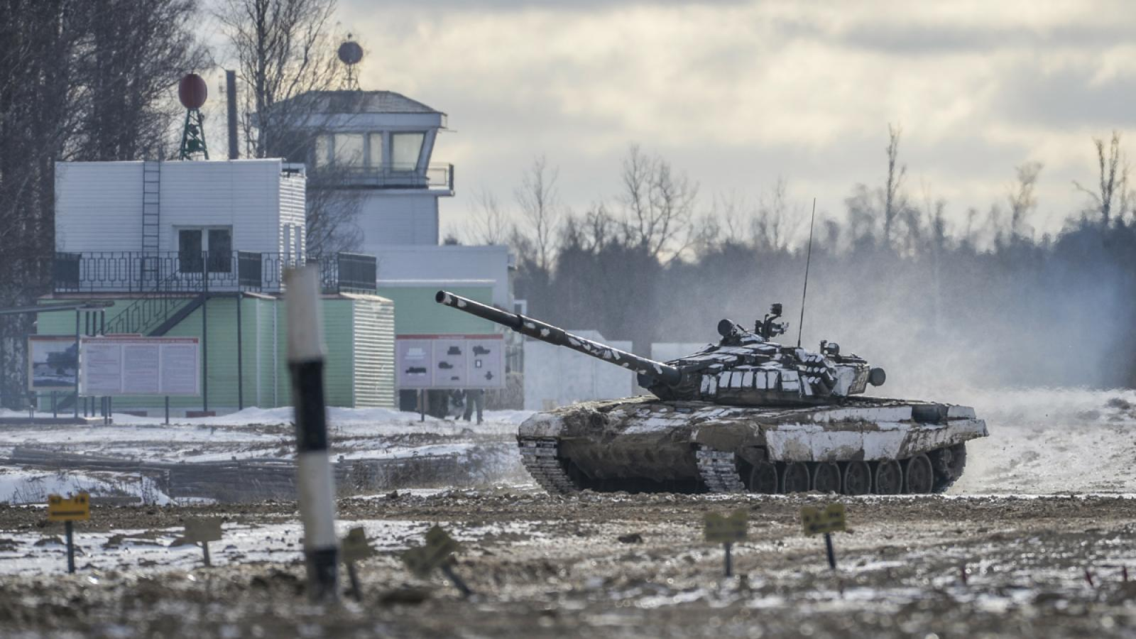 Russian tank in the Western Military District