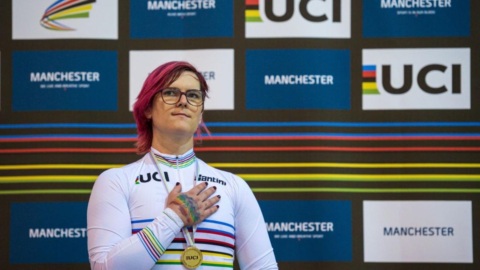 Women's cycling world champion Veronica Ivy