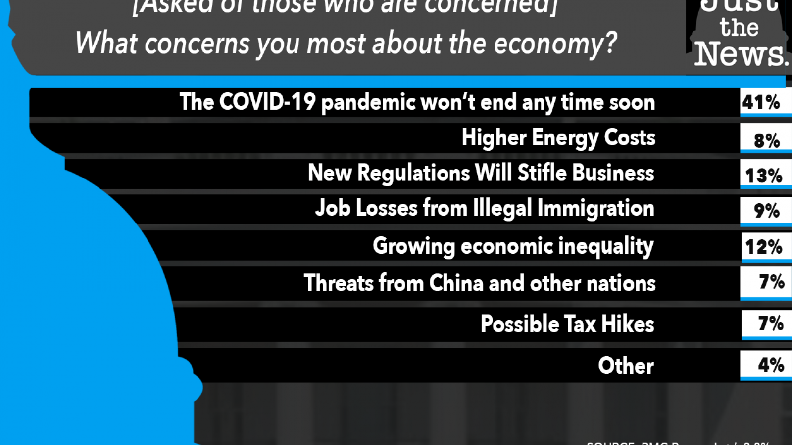 Just the News Poll, What concerns you most about the economy?