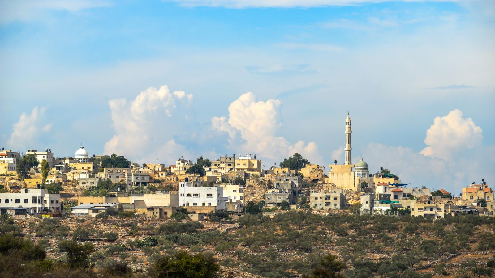 The town of Rantis in the West Bank