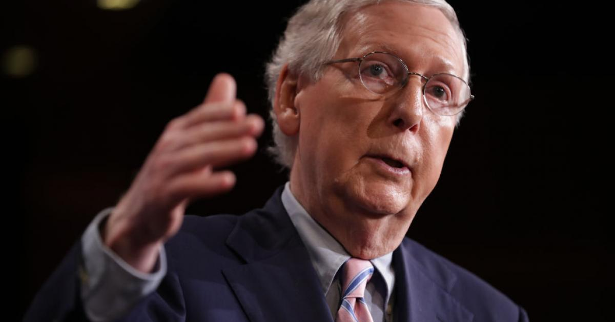 Demonstrators protest outside Mitch McConnell's Kentucky ...